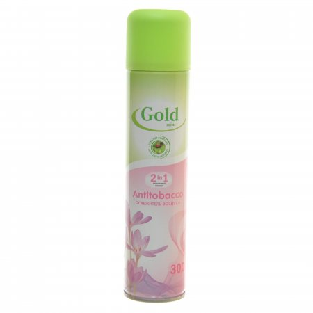 Освежитель воздуха GOLD MINT 2в1 Antitobacco 300мл