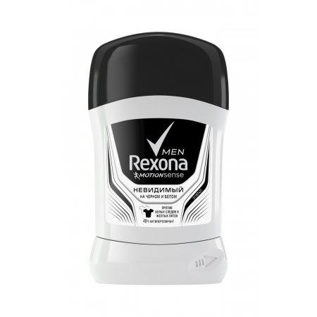 Антиперспирант REXONA Men V мужской стик Invisible для черного,белого 50мл
