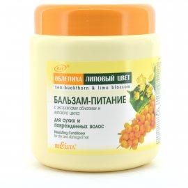 Бальзам для волос BIELITA Питание для сухих и поврежденных С экстрактами облепихи и липового цвета 450мл