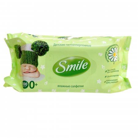 Салфетки влажные для детей SMILE Baby NEW BORN 100шт 0+, Клап