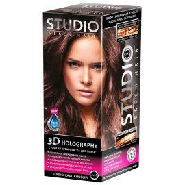 Крем-краска для волос STUDIO стойкая 3.45 Темно-каштановый