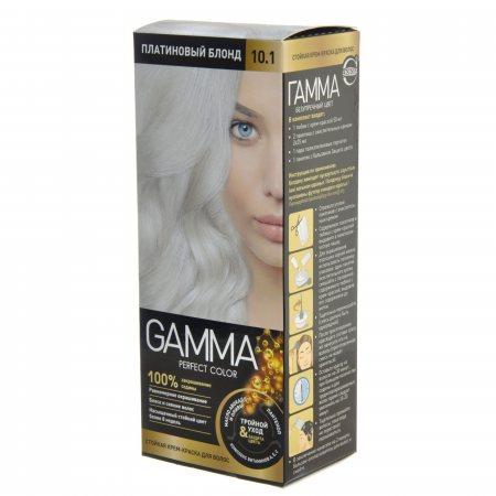 Крем-краска для волос GAMMA Perfect Color стойкая 10.1 Платиновый блонд Окисл.крем 9%