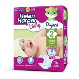 Подгузники HELEN HARPER Baby 3-6кг 16шт mini 2