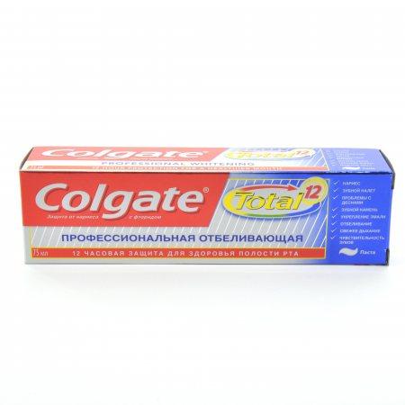 Зубная паста COLGATE Total 12 Профессиональная отбеливающая 75мл