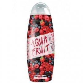 Гель для душа AQUAFRUIT Fresh сок клюквы,брусники и ежевики 420мл