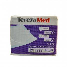 Пеленки TEREZA MED одноразовые впитывающие 60х90 30шт Super