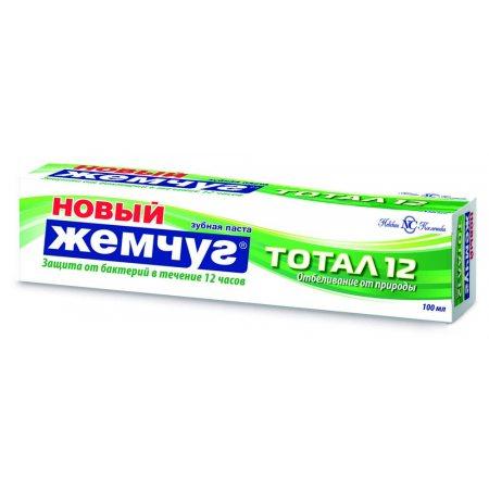 Зубная паста НОВЫЙ ЖЕМЧУГ Тотал 12 Отбеливание от природы 100мл