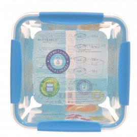 Контейнер СВЧ BUTTERFLY квадратный 1.7л Sky герметичный