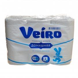 Бумага туалетная LINIA VEIRO 8 рулонов двухслойная Домашняя +подарок 4 рулона