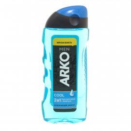 Гель для душа и шампунь ARKO 2в1 Освежающий эффект мужской GOOL Морская свежесть 260мл