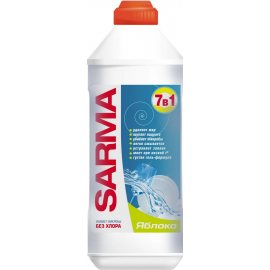 Средство для мытья посуды SARMA Гель 7в1 Apple Антибак.б/хлора 500мл