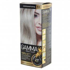 Крем-краска для волос GAMMA Perfect Color стойкая 9.1 Пепельный блонд Окисл.крем 9%