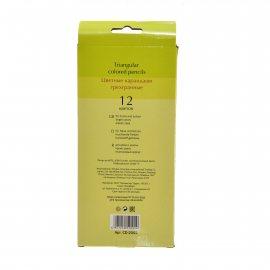 Карандаш цветной INTELLIGENT 12цв пласт, тем-серый, 3-гранн.корп.