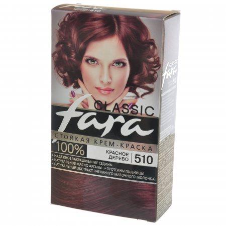 Крем-краска для волос FARA Classic стойкая 510 Красное дерево