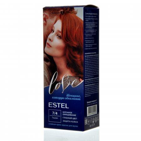 Крем-краска для волос ESTEL LOVE 7/4 Тициан