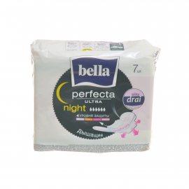 Прокладки BELLA PERFECTA дышащие с крылышками 7шт Ultra Night Silky drai
