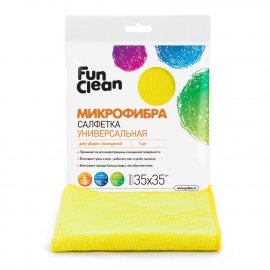 Салфетка для уборки FUN CLEAN 1шт 35х35см микрофибра универс.