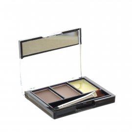 Тени для бровей TRIUMPF Eyebrow 3 Color Set набор для коррекции 2 цвета с закрепляющим воском №103 Мягкий коричневый