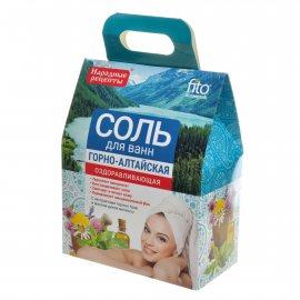 Соль для ванн НАРОДНЫЕ РЕЦЕПТЫ Оздоравливающая Горно-Алтайская 500г