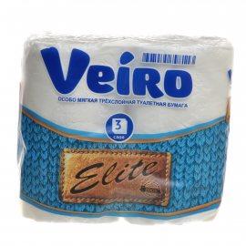 Бумага туалетная LINIA VEIRO 4 рулона трехслойная Elite