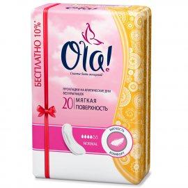 Прокладки OLA! Classic без крылышек 20шт Normal бесплатно 10%