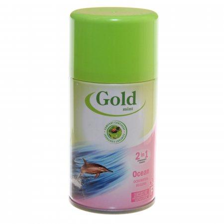 Освежитель воздуха GOLD MINT Plus Автоматический сменный 2в1 Ocean 230мл