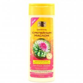 Шампунь для волос ЗОЛОТОЙ ШЕЛК Контроль над потерей волос для окрашенных Шелкосил и репейное масло 400мл
