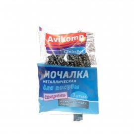 Мочалка для посуды Avikomp CLEIN SET Металлическая 1шт спираль