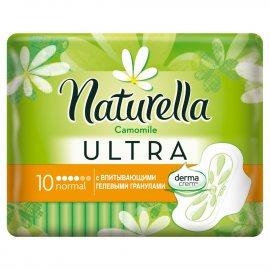 Прокладки NATURELLA Ultra с крылышками 10шт Normal Ромашка
