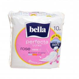 Прокладки BELLA PERFECTA дышащие с крылышками 10шт Ultra Deo Rosa Fresh Extra Soft